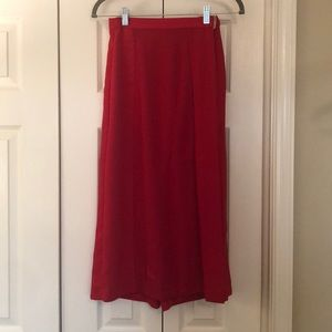 Midi skirt/ Culottes - Red